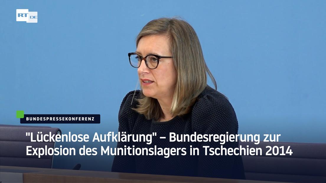 """""""Lückenlose Aufklärung"""" – Bundesregierung zur Explosion des Munitionslagers in Tschechien 2014"""