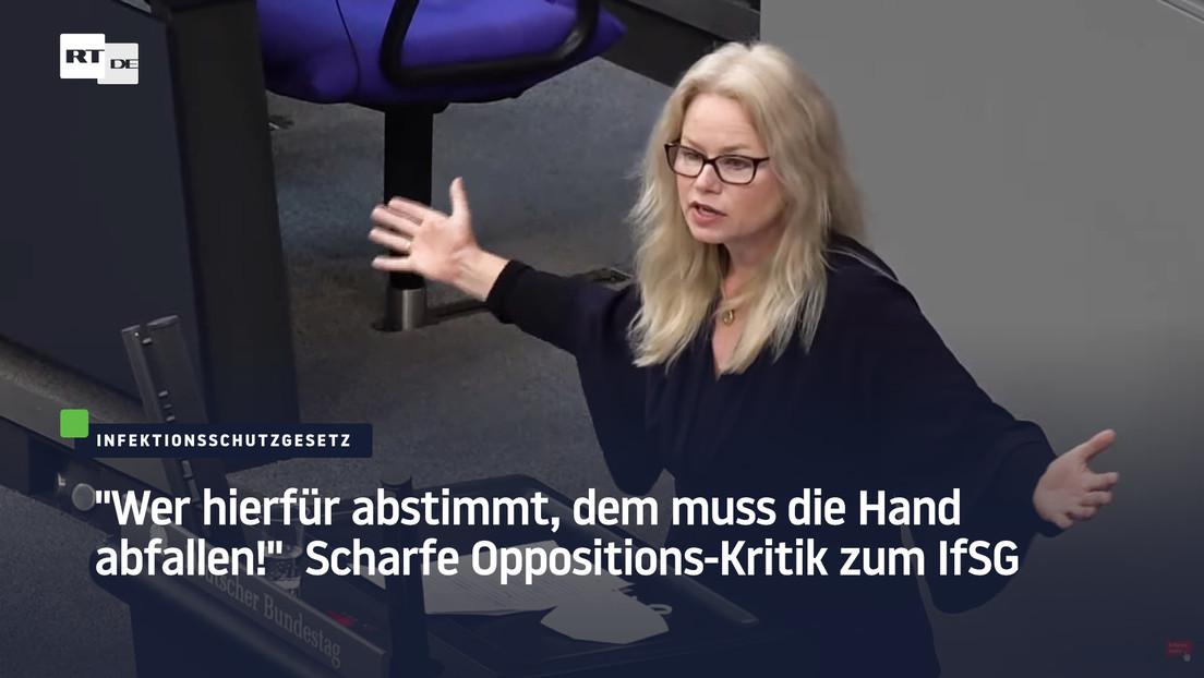 """""""Wer hierfür abstimmt, dem muss die Hand abfallen!"""" - Scharfe Oppositions-Kritik zum IfSG"""
