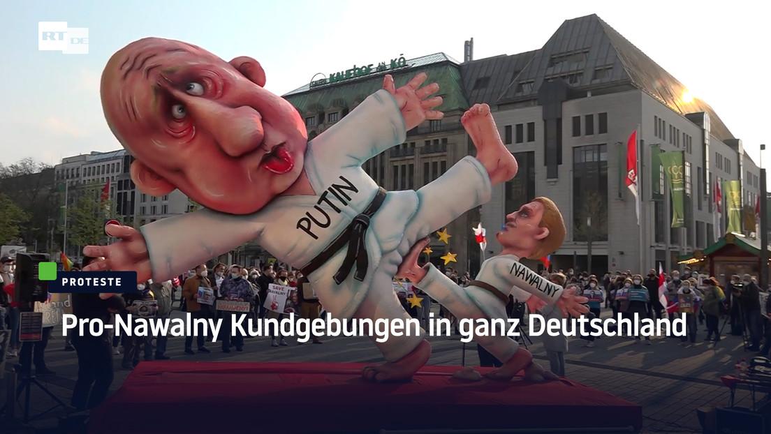 Pro-Nawalny Kundgebungen in ganz Deutschland