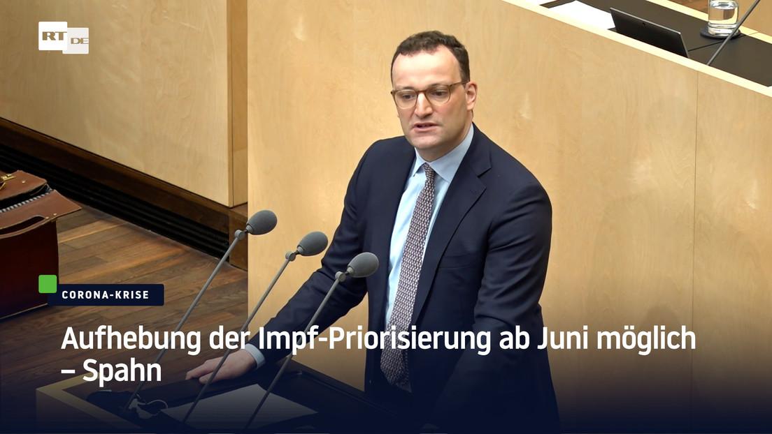 Jens Spahn: Aufhebung der Impf-Priorisierung ab Juni möglich