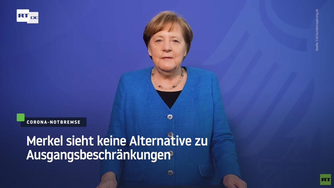"""""""Die Dritte Welle brechen"""" – Kanzlerin Merkel sieht keine Alternative zu Ausgangsbeschränkungen"""