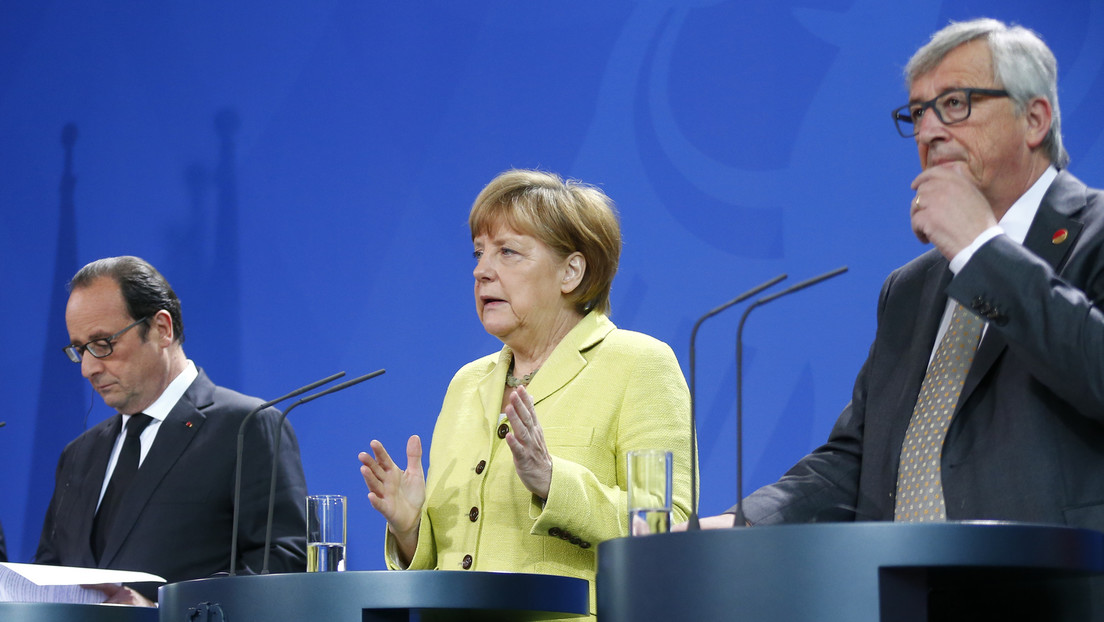 Live: Merkel, Hollande und Juncker geben Pressekonferenz in Berlin