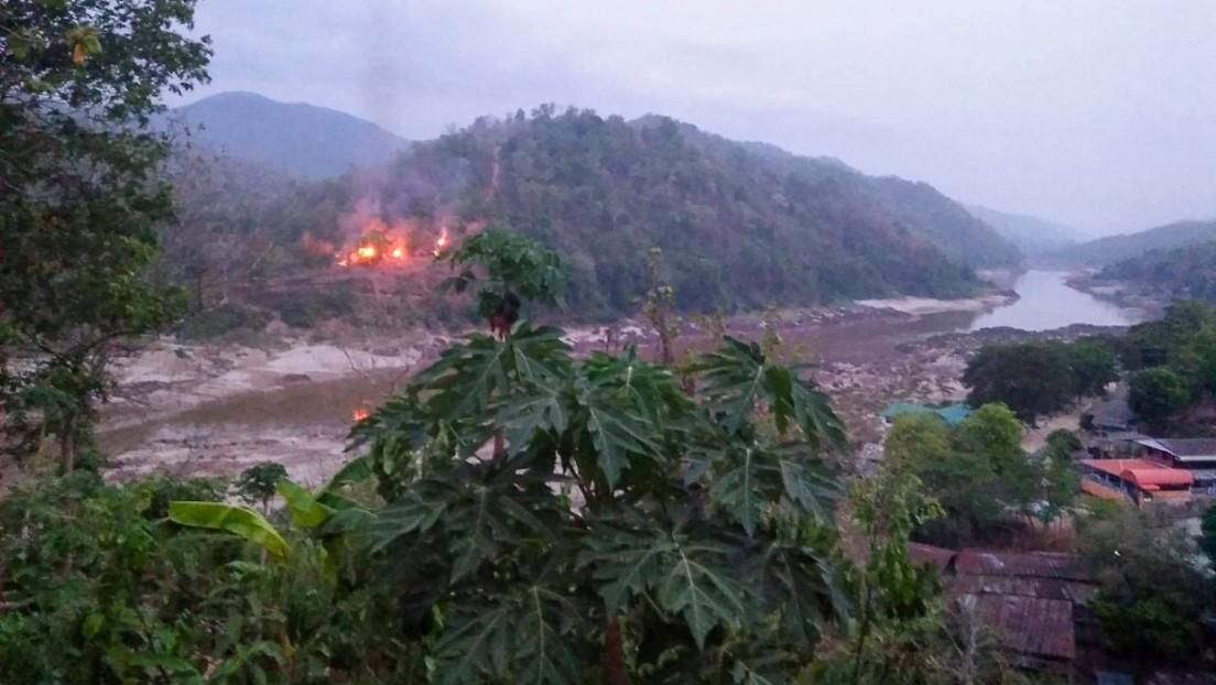 Rebellenangriff in Myanmar: Schwere Kämpfe an Grenze zu Thailand