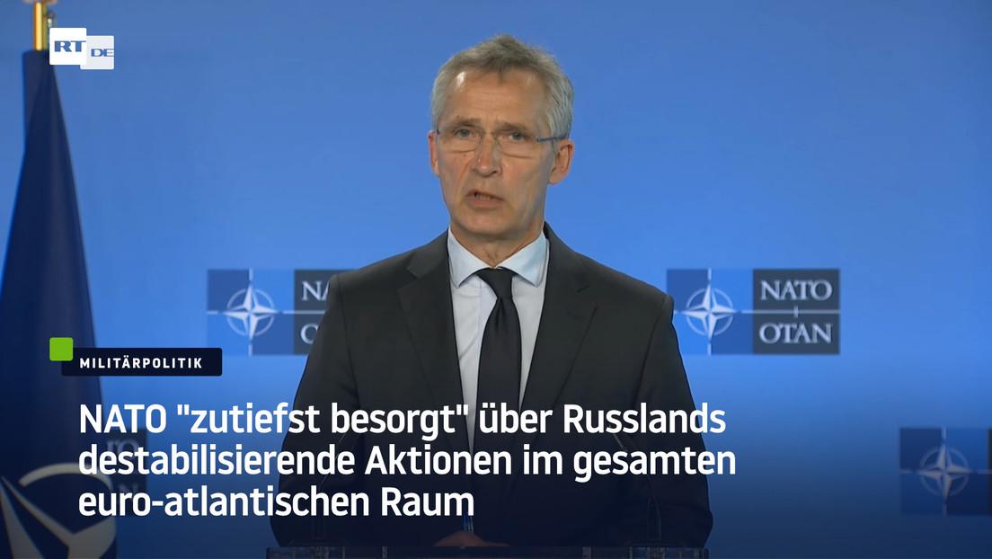 """Brüssel: NATO """"zutiefst besorgt"""" über Russlands destabilisierende Aktionen"""