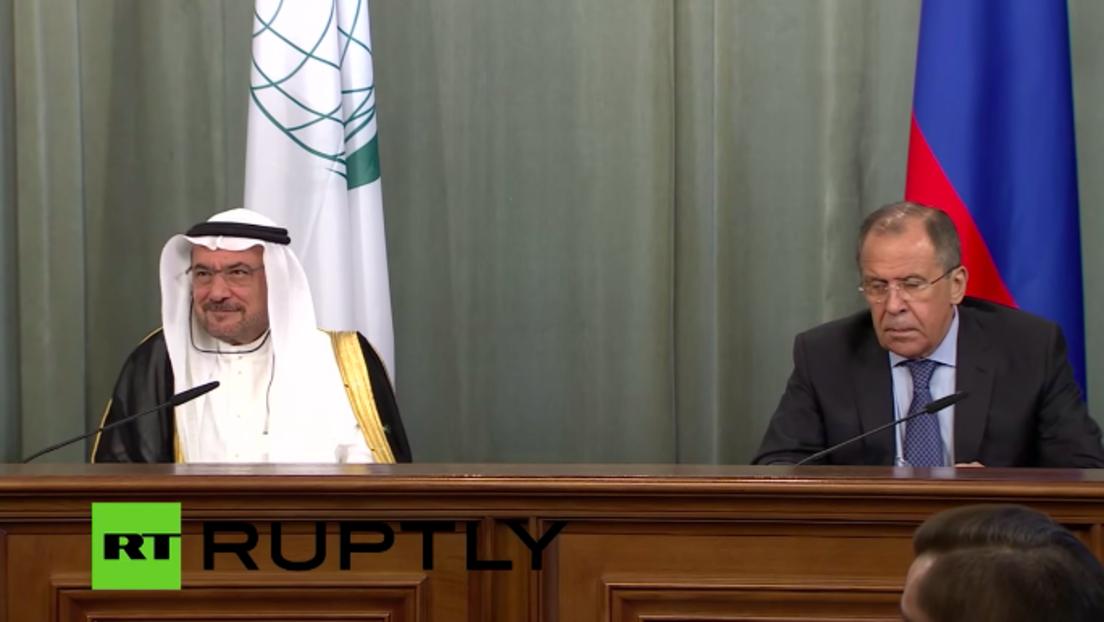 Live: Lawrow trifft den Leiter der Organisation für Islamische Zusammenarbeit I. Madani - Englisch