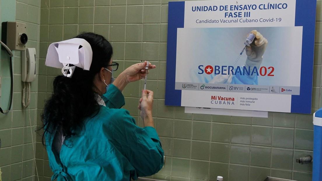 Der kubanische Coronavirus-Impfstoff Soberana 02. | Bildquelle: https://t1p.de/pvtl © Reuters / Jorge Luis Banos | Bilder sind in der Regel urheberrechtlich geschützt