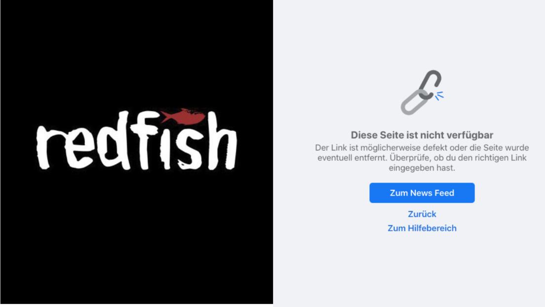 Zensur: Facebook löscht Seite von RT-Tochterunternehmen Redfish mit 830.000 Followern