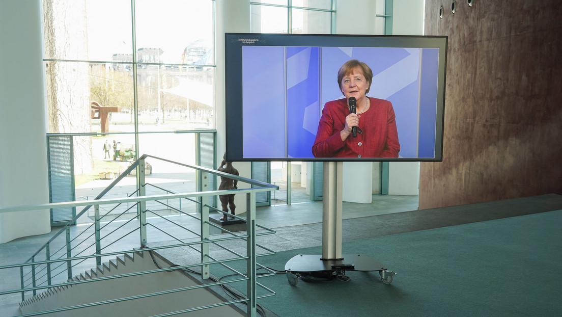 Kanzlerin Merkel grüßt Arbeitnehmer zum Tag der Arbeit – und ruft zu Corona-Tests auf