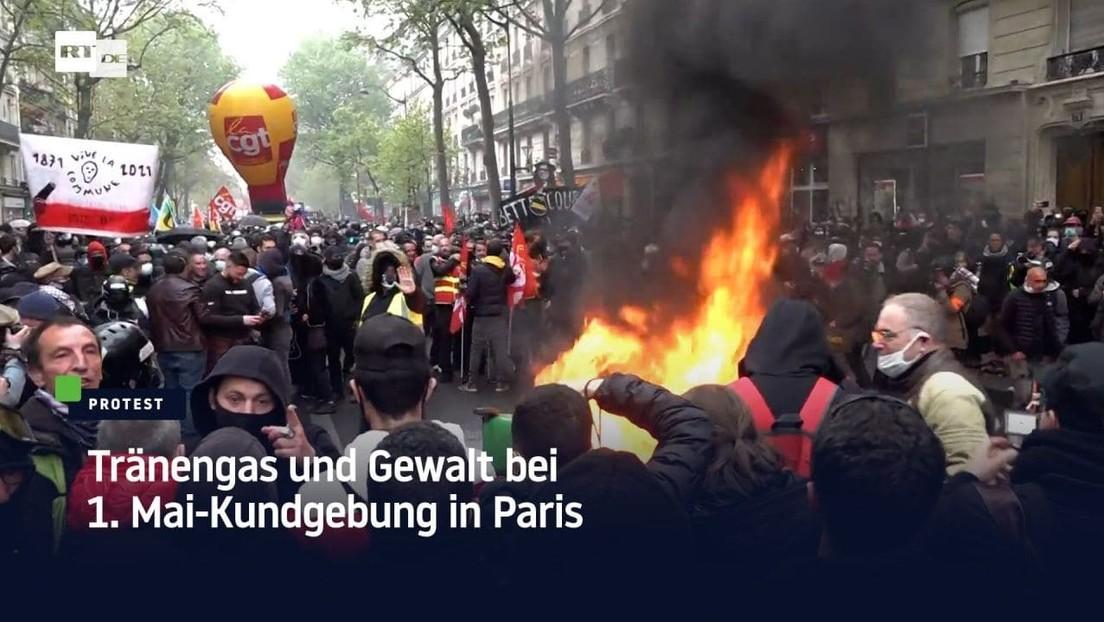 Tränengas und Gewalt bei 1.-Mai-Kundgebung in Paris