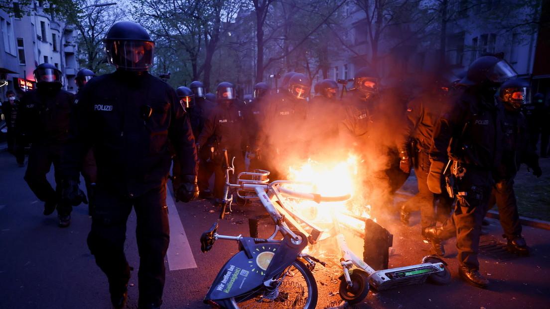 Heftige Auseinandersetzungen bei 1.-Mai-Demos in Berlin, Frankfurt und Leipzig
