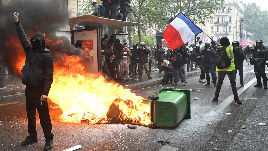 Maiproteste in Paris