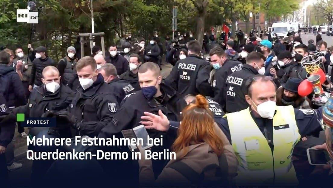 """Mehrere Festnahmen bei Demo der """"Freien Linken"""" gegen Corona-Maßnahmen in Berlin"""