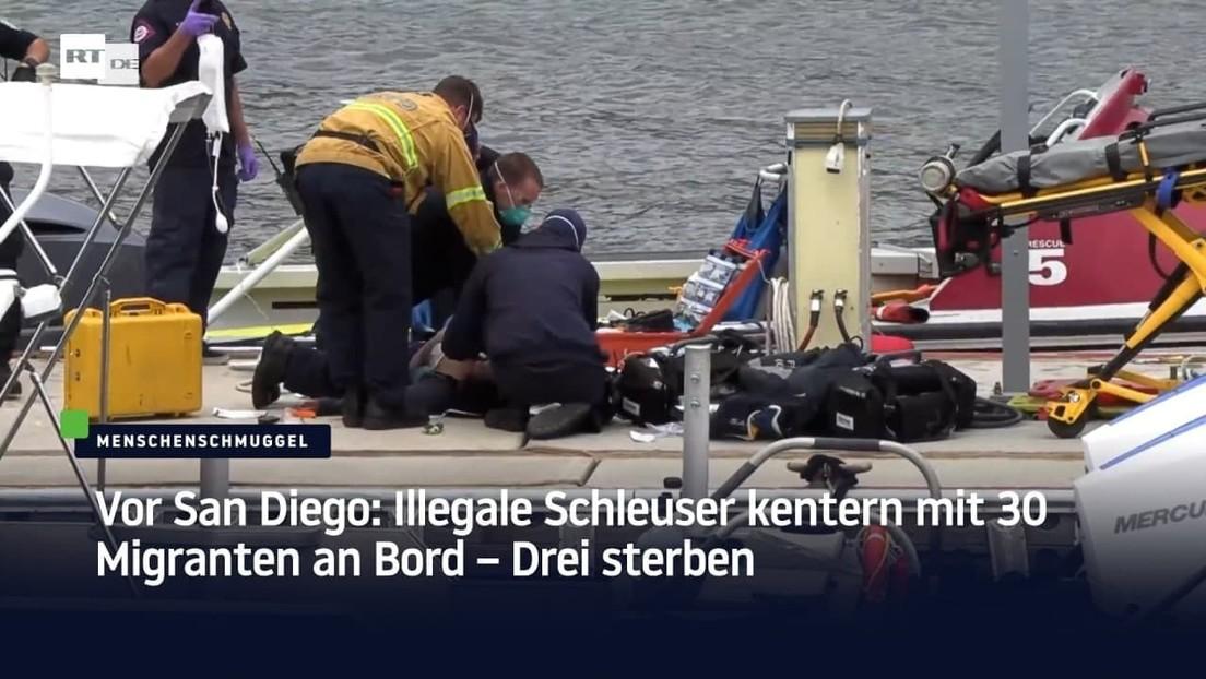 Vor San Diego: Illegale Schleuser kentern mit 30 Mann, drei sterben