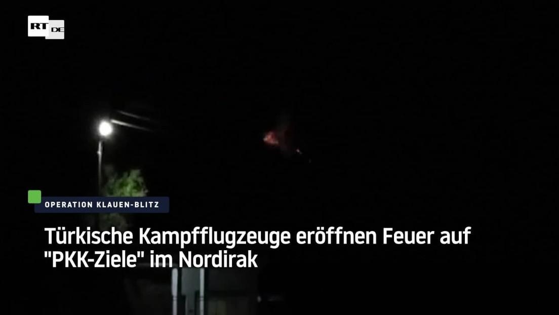 """Türkische Kampfflugzeuge eröffnen Feuer auf """"PKK-Ziele"""" im Nordirak"""
