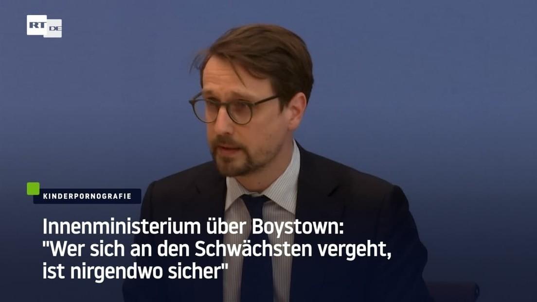 """Innenministerium über Pädo-Plattform: """"Wer sich an den Schwächsten vergeht, ist nirgendwo sicher"""""""