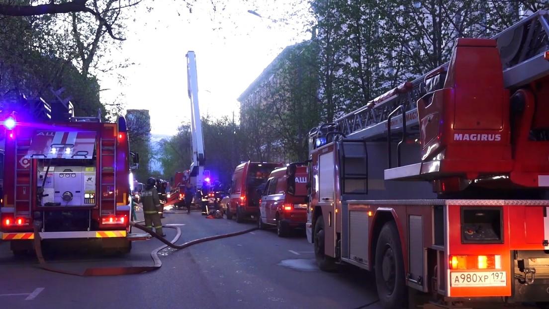 Drei Todesopfer nach Brand in Moskauer Hotel