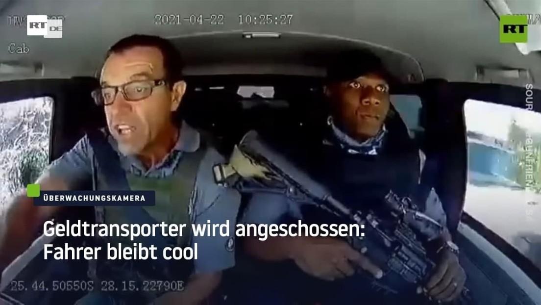Südafrika: Geldtransporter wird angeschossen – Fahrer beweist Coolness