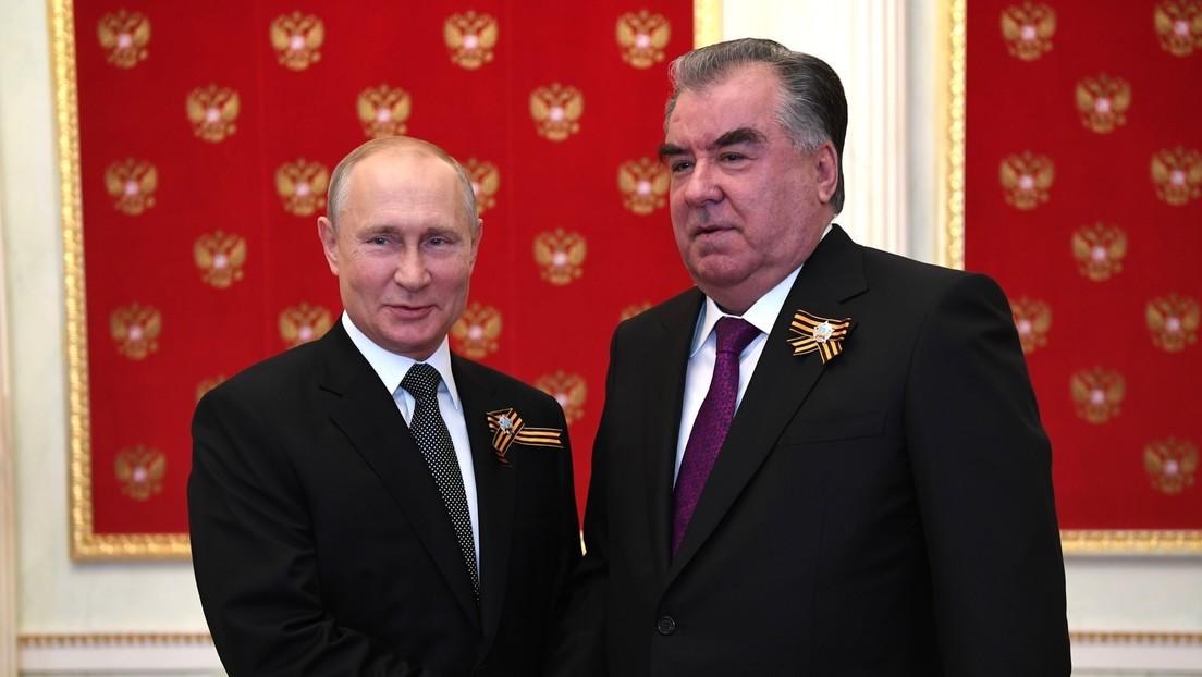 Putin führt in Moskau Gespräche mit dem Präsidenten Tadschikistans
