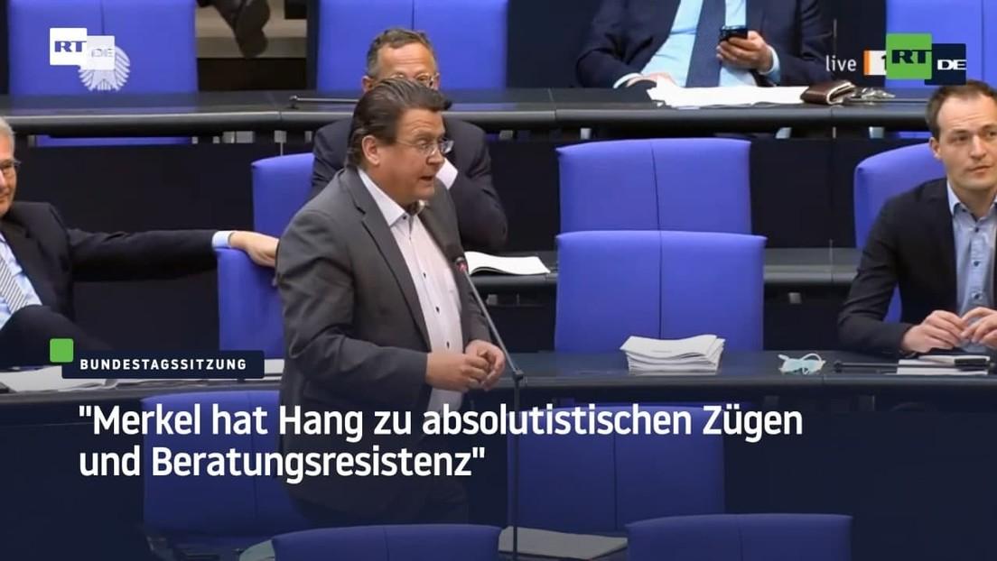 """""""Merkel hat Hang zu absolutistischen Zügen und Beratungsresistenz"""" – Brandner poltert im Bundestag"""