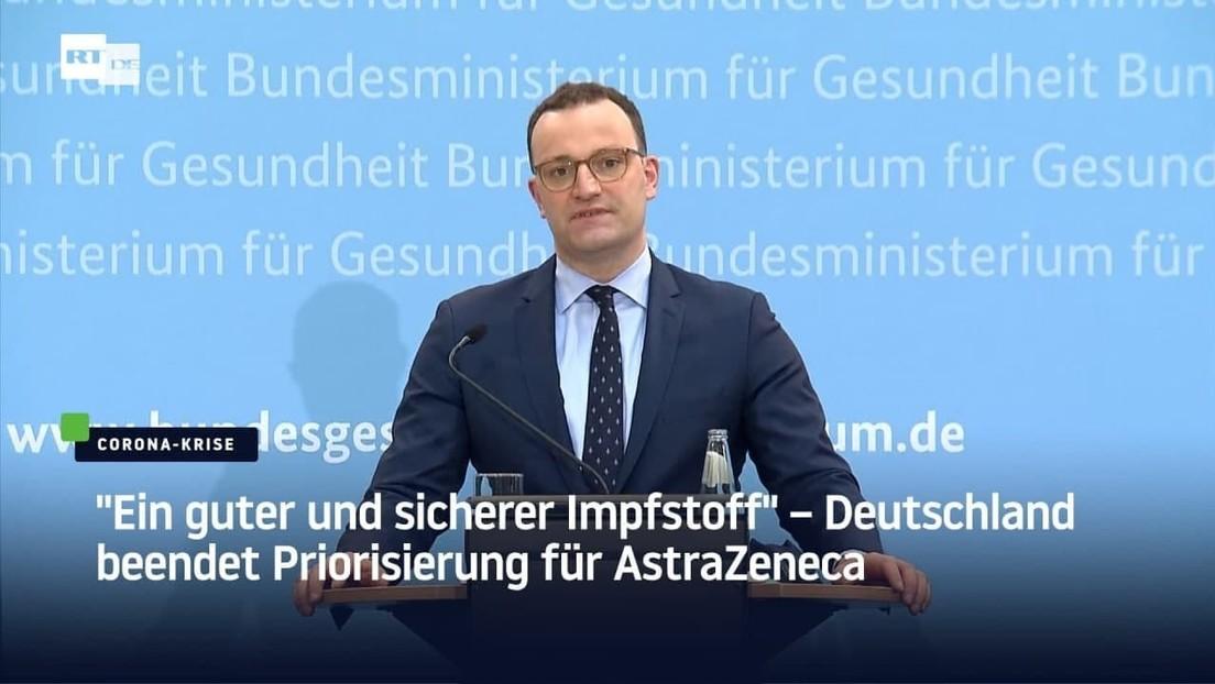"""""""Ein guter und sicherer Impfstoff"""" – Deutschland beendet Priorisierung für AstraZeneca"""