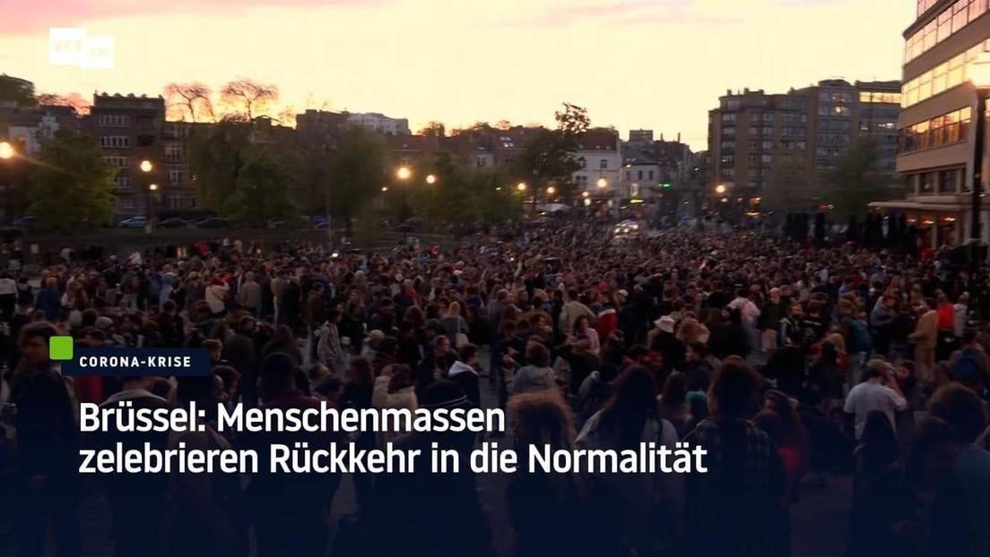 Brüssel: Menschenmassen zelebrieren Rückkehr in die Normalität