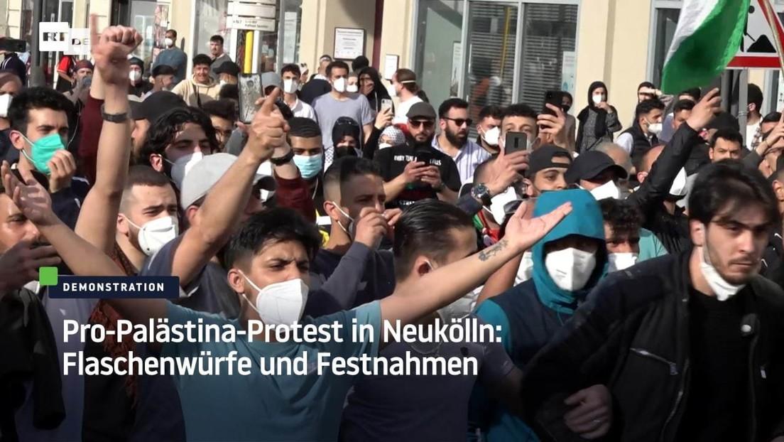 Pro-Palästina-Protest in Neukölln: Flaschenwürfe und Festnahmen