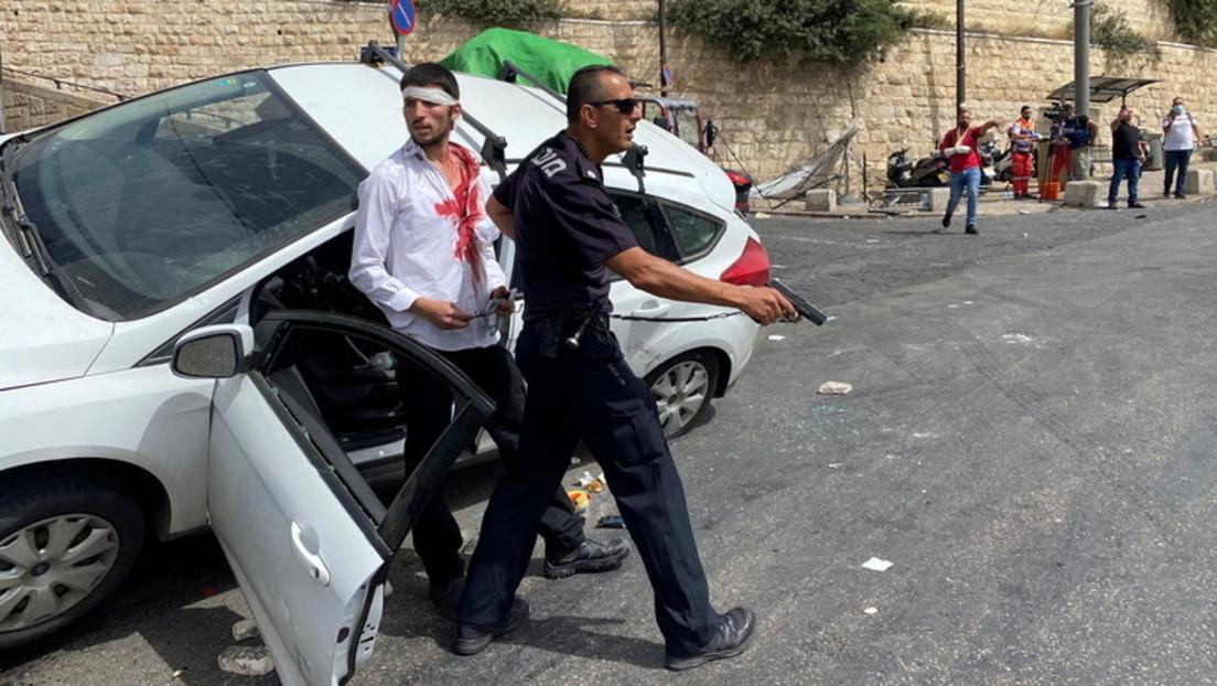 Chaotische Szenen in Jerusalem: Israelischer Fahrer rammt Palästinenser nach Angriff mit Steinen