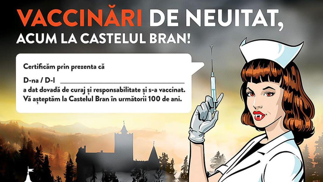 Rumänien eröffnet Corona-Impfzentrum in Dracula-Burg