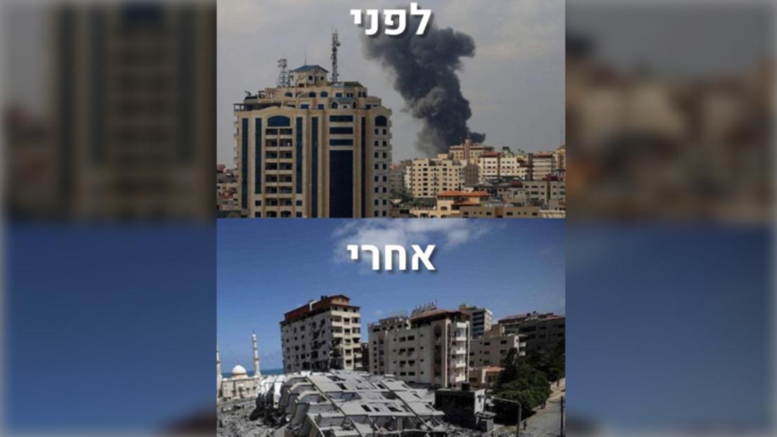 Israel postet Vorher-Nachher-Fotos eines zerbombten Wohnhauses – Internetnutzer empört