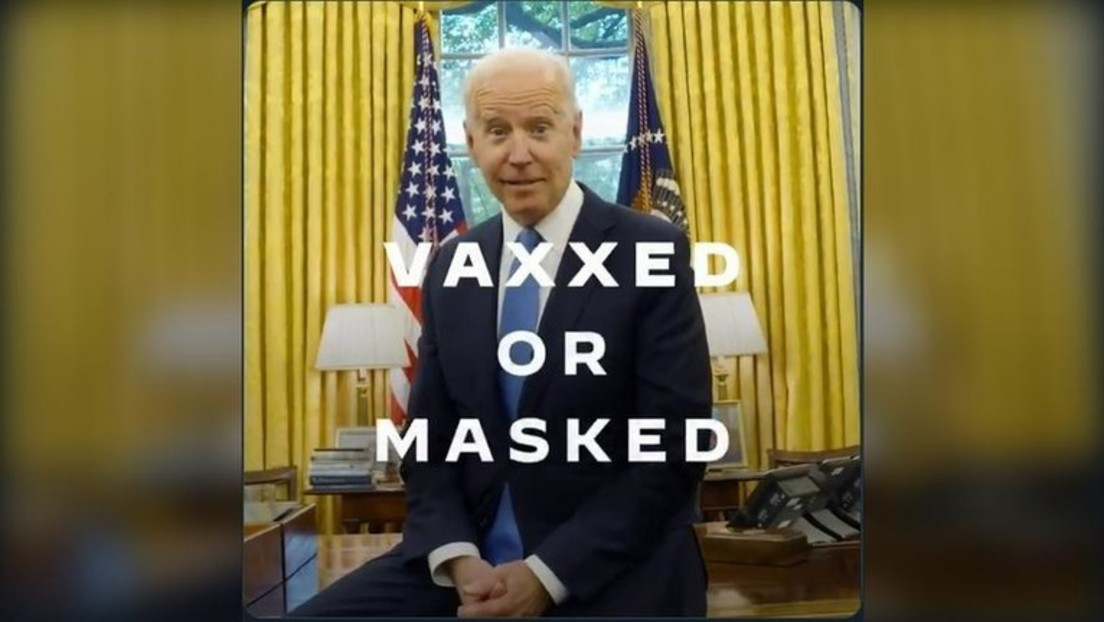 """""""Vaxxed or masked"""": Biden hebt für geimpfte US-Amerikaner Maskenpflicht auf und stößt auf Kritik"""