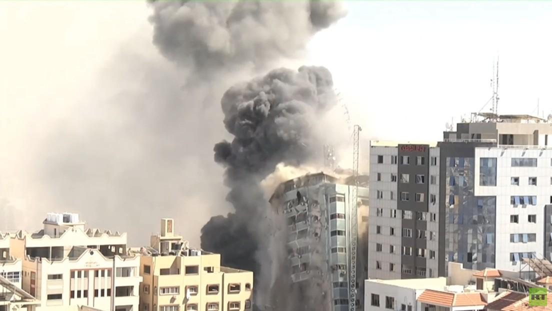 Live im TV zu sehen: Israelische Armee bombardiert erneut Hochhaus in Gaza-Stadt