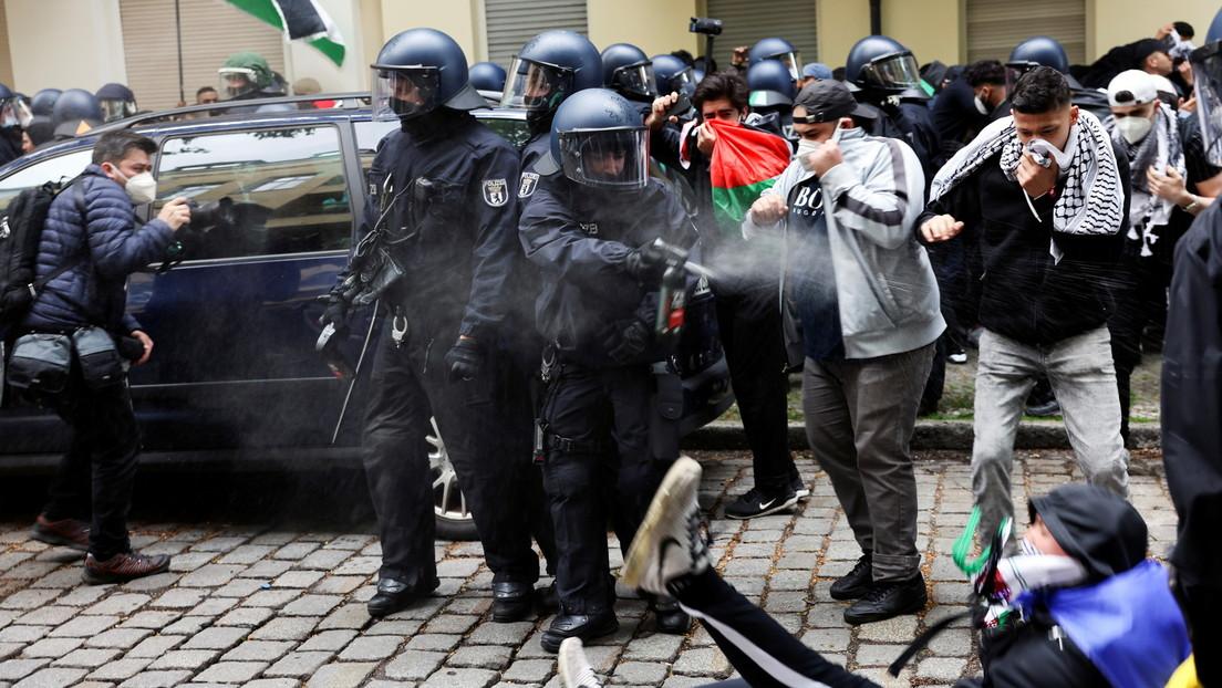 Deutschland: Proteste gegen Israels Vorgehen führen teilweise zu Ausschreitungen (Fotos)