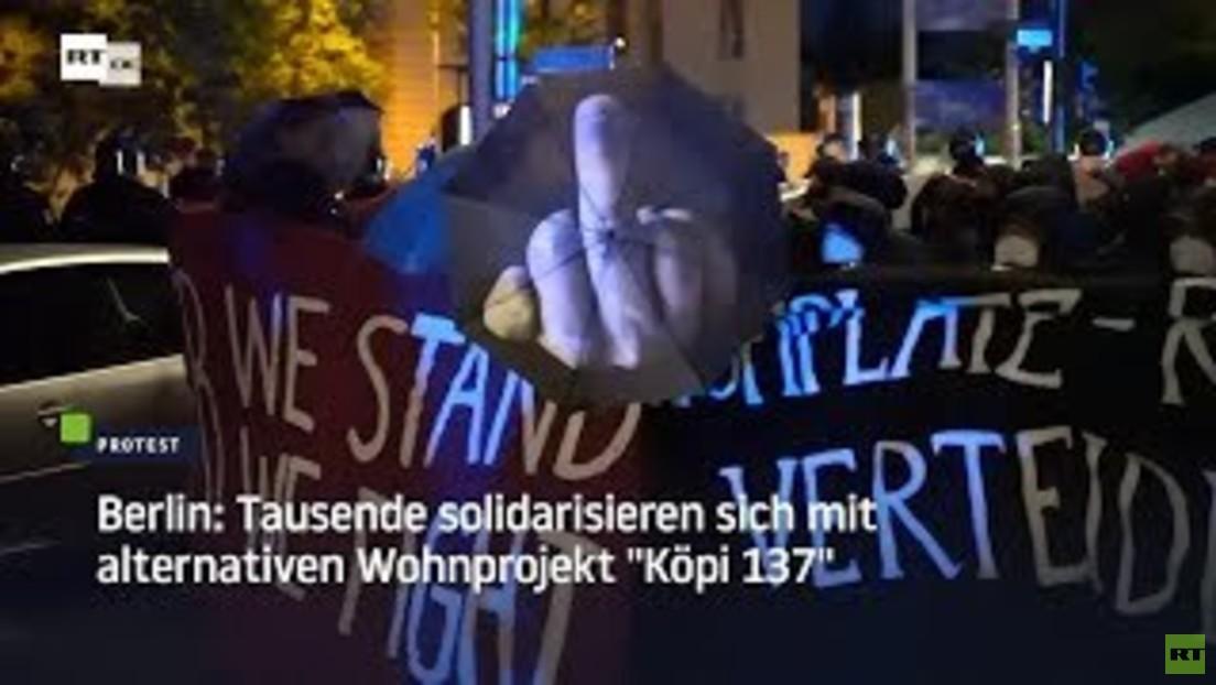 """Berlin: Tausende solidarisieren sich mit alternativen Wohnprojekt """"Köpi 137"""""""