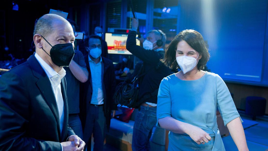 Duell in Potsdam: Olaf Scholz contra Annalena Baerbock