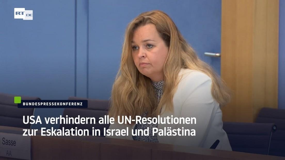 """Bundesregierung zu Blockade von UN-Resolution: """"Wir unterstützen die Vermittlungsbemühungen der USA"""""""