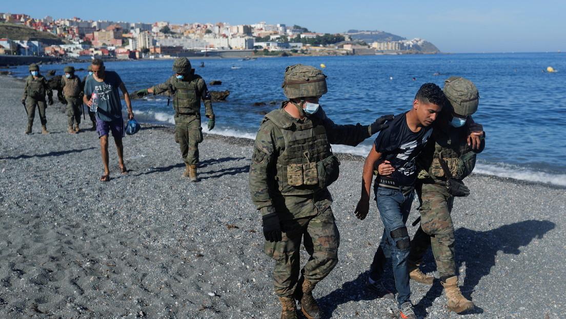 Zahl der in die spanische Exklave Ceuta geflüchteten Migranten erhöht sich auf 8.000