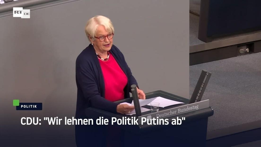 """CDU: """"Wir lehnen die Politik Putins ab"""""""