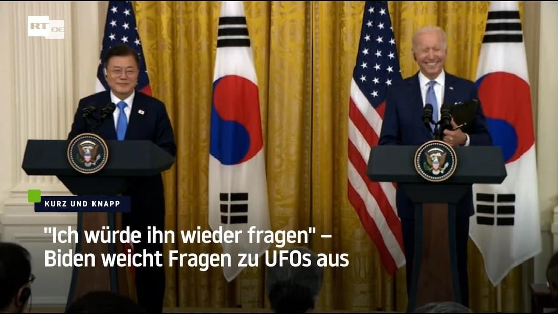 """USA: """"Ich würde ihn wieder fragen"""" – Biden weicht Fragen zu UFOs aus"""