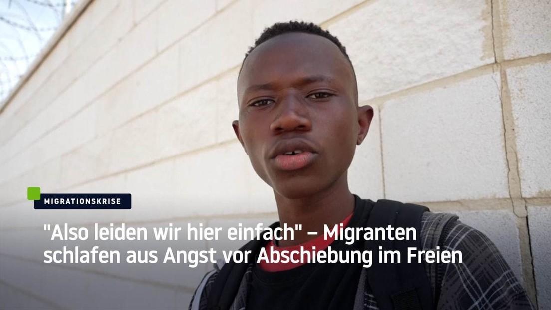 """Ceuta: """"Also leiden wir hier einfach"""" – Migranten schlafen aus Angst vor Abschiebung im Freien"""