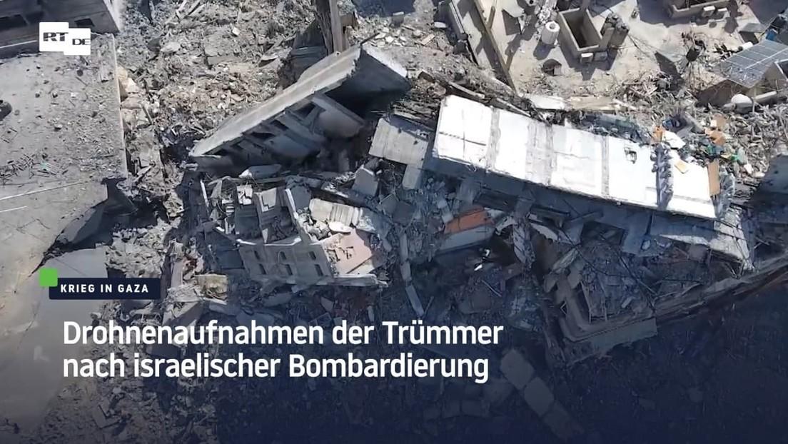 Gaza-Stadt: Drohnenaufnahmen der Trümmer nach israelischer Bombardierung