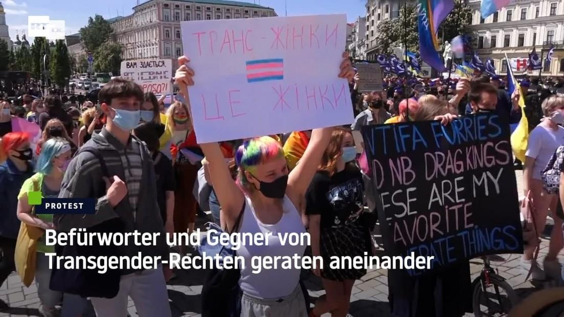 Kiew: Befürworter und Gegner von Transgender-Rechten geraten aneinander