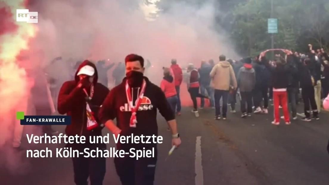 Verhaftete und Verletzte nach Köln-Schalke-Spiel