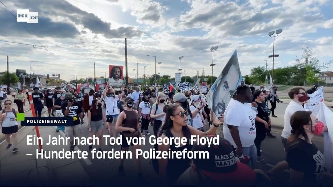 USA: Ein Jahr nach Tod von George Floyd – Hunderte fordern Polizeireform