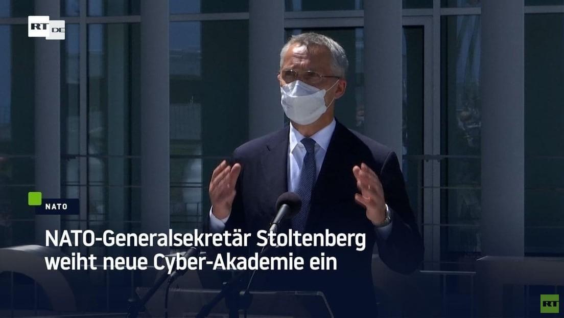 NATO-Generalsekretär Stoltenberg weiht neue Cyber-Akademie ein