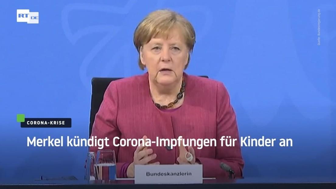 Merkel kündigt Corona-Impfungen für Kinder an