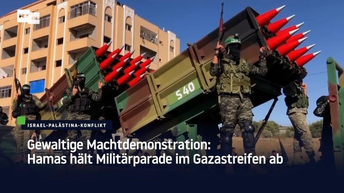 Gewaltige Machtdemonstration: Hamas hält Militärparade im Gazastreifen ab
