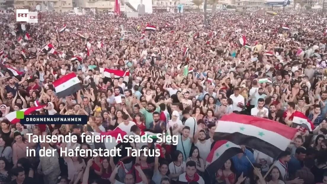 Syrien: Tausende feiern Assads Sieg in der Hafenstadt Tartus