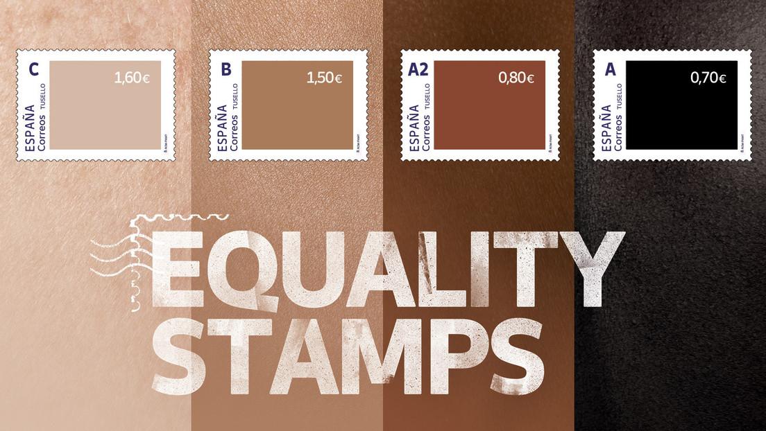 Missratene Antirassismus-Aktion in Spanien: Je dunkler die Briefmarke, desto niedriger deren Wert