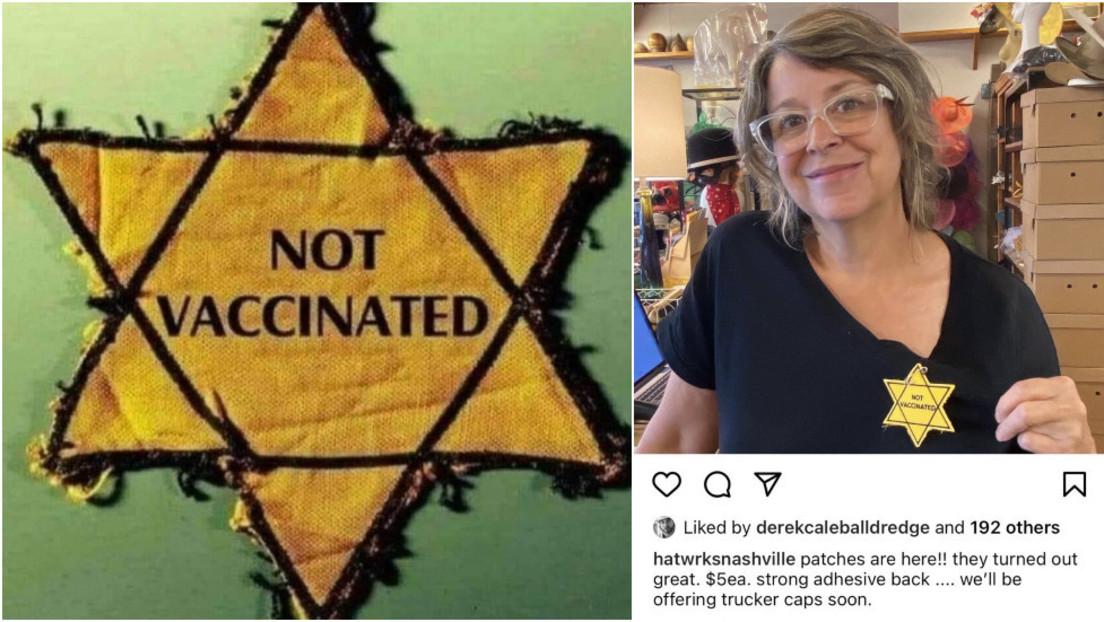 """USA: Hutladen bewirbt auf Instagram gelben Anti-Impf-Aufnäher im Stil des """"Judensterns"""""""