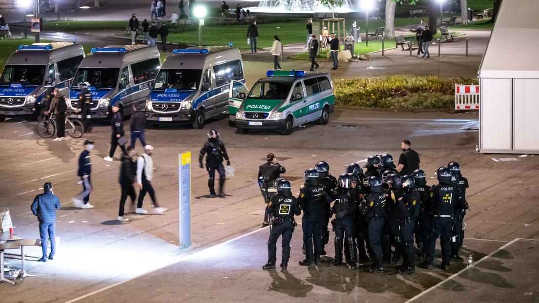 Fünf verletzte Polizisten und sechs Festnahmen bei nächtlichen Krawallen in Stuttgart